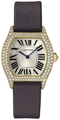 Cartier Tortue Fashionable 18k Yellow Gold Ladies Automatic Wristwatch-WA504831