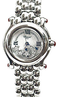 Chopard Happy Sport Series Diamond MoonStars Steel Style Ladies Quartz Watch 278250-21