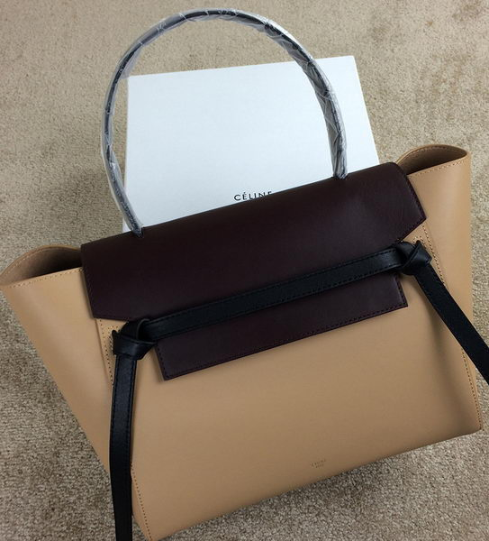 Celine Belt Bag Original Calfskin Leather CLT98312M Apricot&Maroon