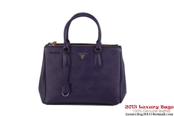 Top Quality Prada Saffiano Leather Classic Tote Bag BN1786 Dark Purple