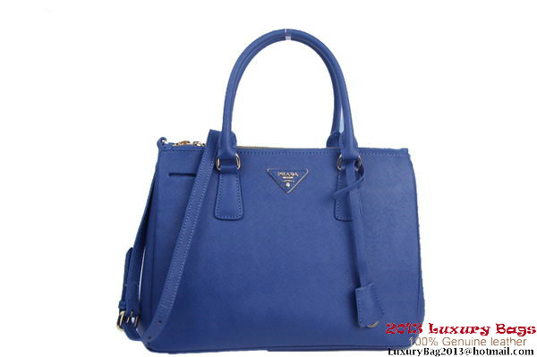 Fashion Prada Saffiano Calf Leather Tote Bag BN2274 Blue