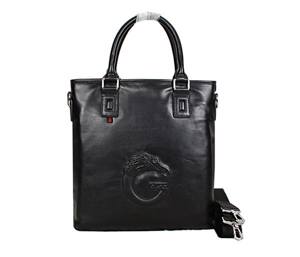 Gucci Smooth Leather Business Tote Bag 99022 Black