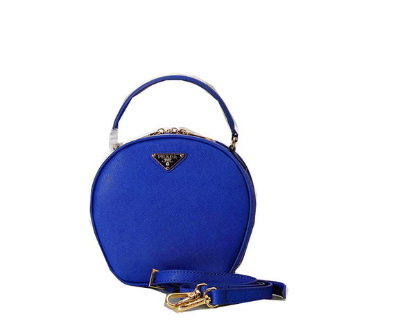 Prada Original Saffiano Leather Bucket Bag BN1219 Blue