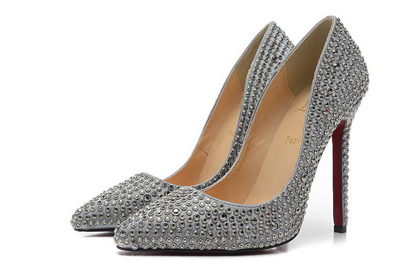 Christian Louboutin PIGALLE SPIKES 120mm Pump CL1349 Gray