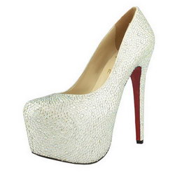 Christian Louboutin Daffodil 160mm Concealed Platform Pumps White