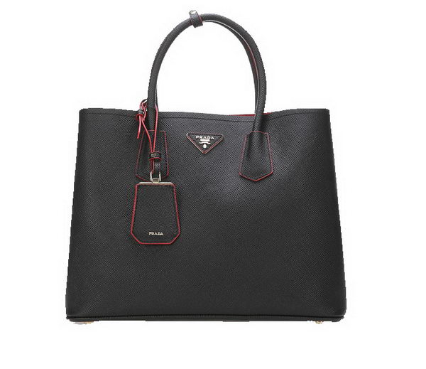 Prada Saffiano Leather Tote Bags BN2756 Black