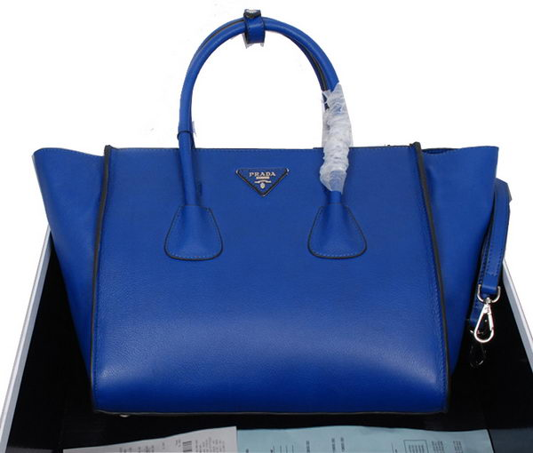 Prada Smooth Leather Tote Bag BN2619 RoyalBlue