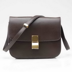 Celine Classic Box Large Flap Bag 80077 Deep Coffee