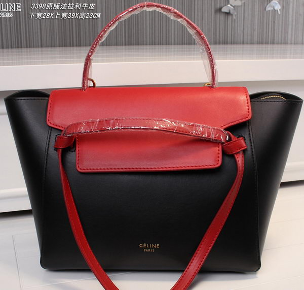 Celine Belt Bag Original Leather C3398T Black&Red