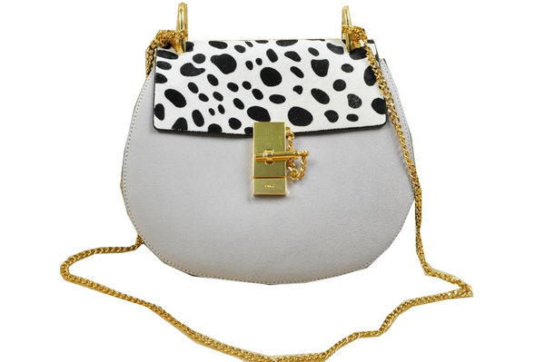 CHLOE Drew Suede Leather Shoulder Bag 20828 White