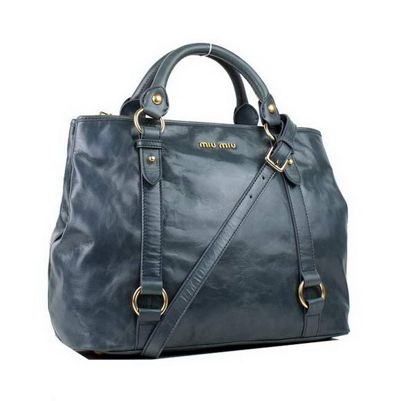 MIU MIU 2012 New Top Handle Bag 88034 Blue