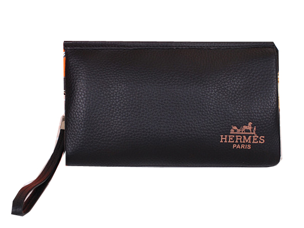 Hermes Grainy Leather Clutch H8003 Black