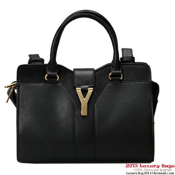 Yves Saint Laurent Small Clafskin Cabas Chyc Bag YSL2030S black