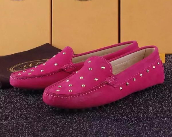 Tods Ballerina Flat Leather TO280 Rose