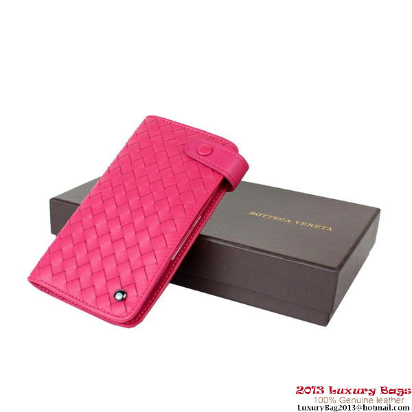 Bottega Veneta Intrecciato Nappa Card Case BV8312 Peach