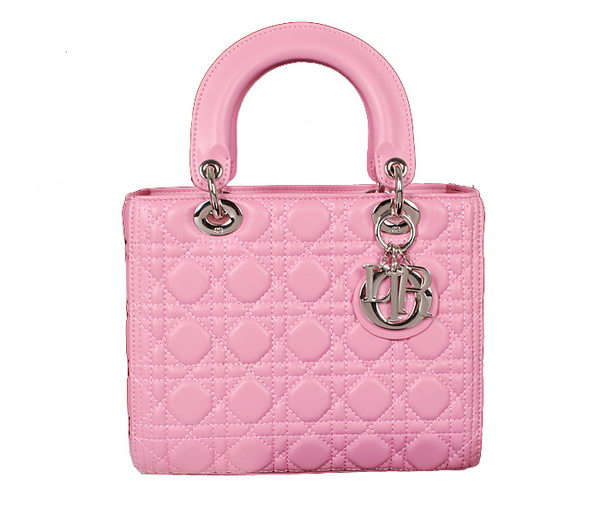 Lady Dior Bag mini Bag in Sheepskin Leather D445651 Pink