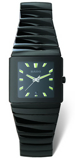 Rado Sintra Series Ceramic Quartz Unisex Watch R13336182 in Black