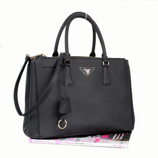 Fashion Prada Saffiano Calf Leather Tote Bag BN2274 Black