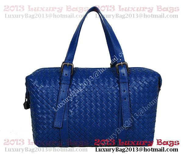 Bottega Veneta Krim Intrecciato Light Calf Bag 1048S RoyalBlue