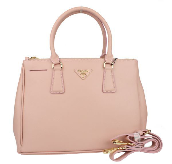 Prada Saffiano Calf Leather Tote Bag 103282 Pink