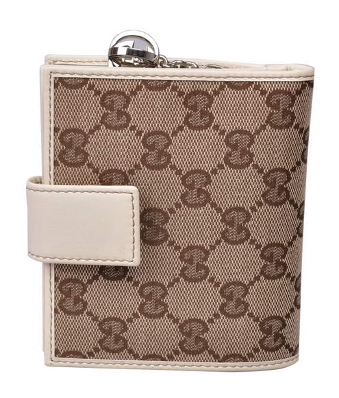 Gucci 233022 F4C7N 9761 GG Fabric Flap French Wallet