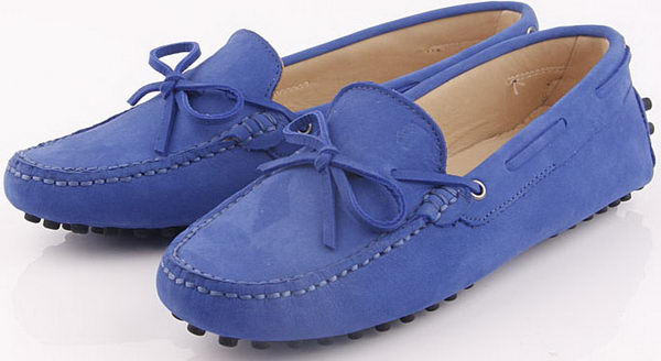 Tods Ballerina Suede Leather TO243 Blue
