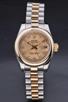Rolex Datejust Rose Gold Stainless Steel 25mm Watch-RD3789