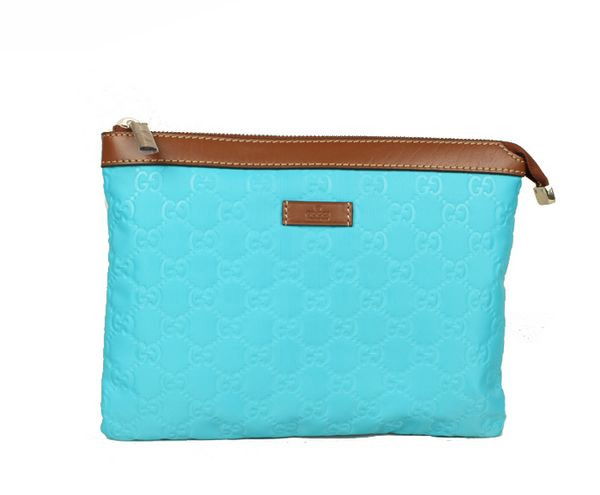 Gucci Cosmetic Bags Zip-Top Pouch 286209 Light Blue
