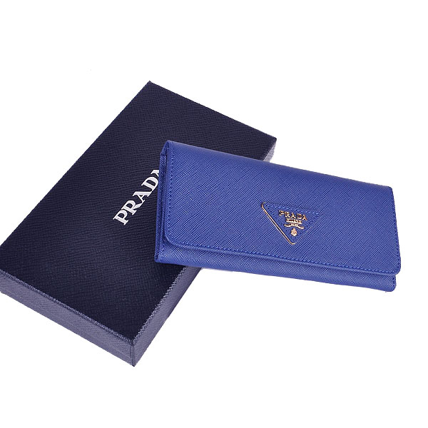 Prada Saffiano Calf Leather Wallet 1M1132 - RoyalBlue