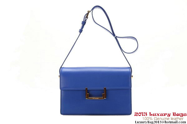 Yves Saint Laurent Classic Medium Lulu Bag Original Leather Y037 Blue