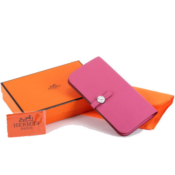 Hermes Dogon Combined Wallets A508 Roseo