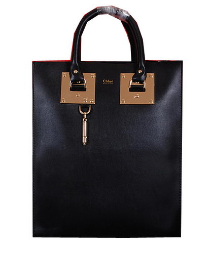 CHLOE Smooth Calfskin Leather Tote Bag 8679L Black
