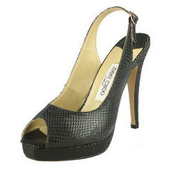 Jimmy Choo Clue Slingbacks Python Print Black
