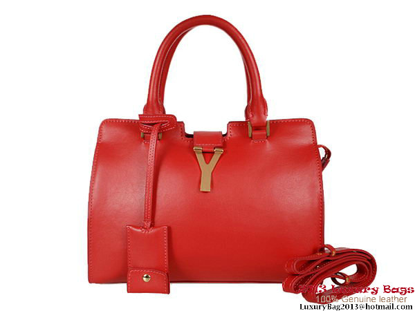 Yves Saint Laurent Small Clafskin Cabas Chyc Bag YSL1208 Red