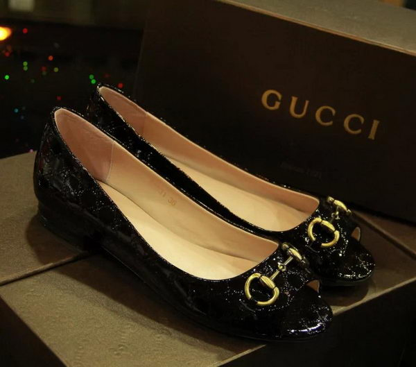 Gucci Patent Leather Peep-toe Pump GG0444CK Black