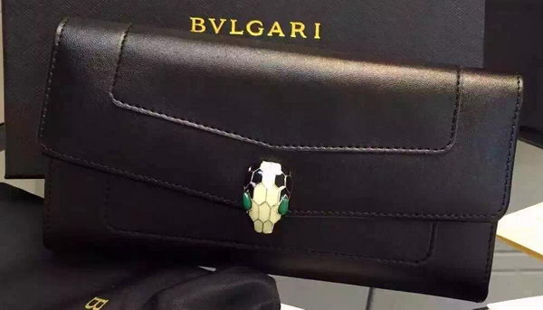 BVLGARI Wallet Pochette in Calf Leather BG0122 Black