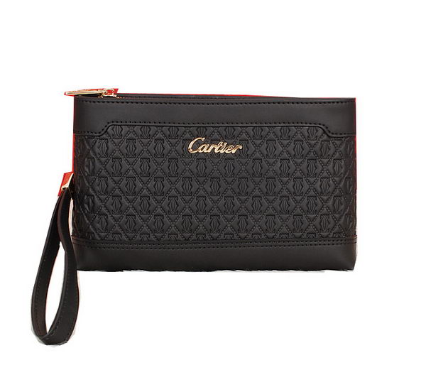 Cartier Original Calfskin Leather Clutch 2083 Black