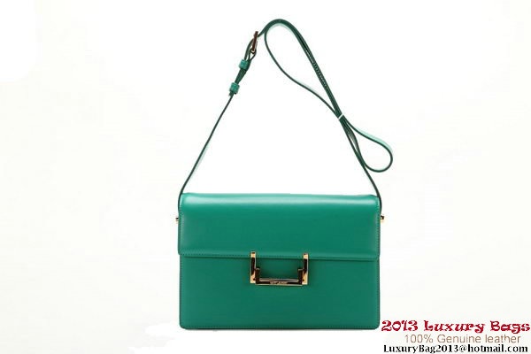 Yves Saint Laurent Classic Medium Lulu Bag Original Leather Y037 Green