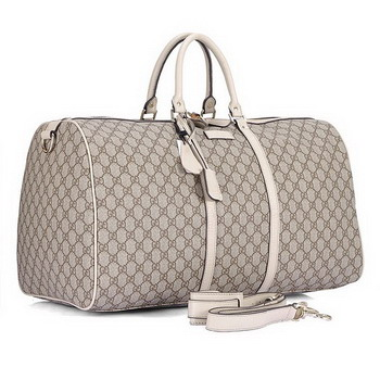Gucci GG Fabric Large Carry On Duffel 206500 White