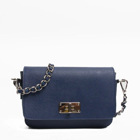 PRADA Saffiano Calf Leather Shoulder Bag BT0830 Royalblue