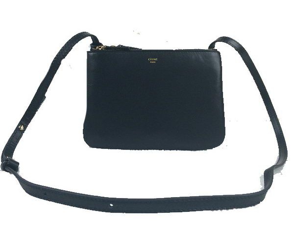 Celine Trio Original Leather Shoulder Bag C98317 Black