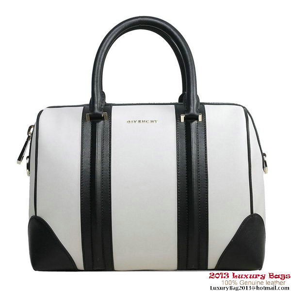 2013 Givenchy Lucrezia Bag Calfskin Leather G5470 White&Black
