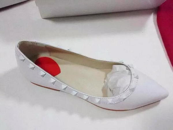 Valentino Sheepskin Leather Flat 527VT74 White