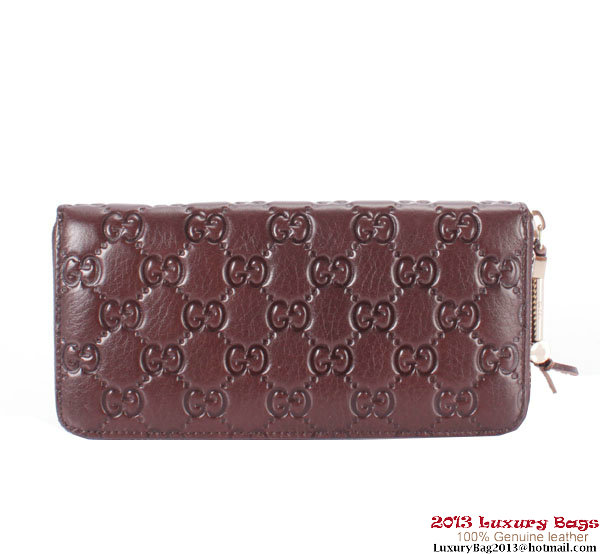 Gucci 242635 Trendy Wallet With Horsebit Detail Brown