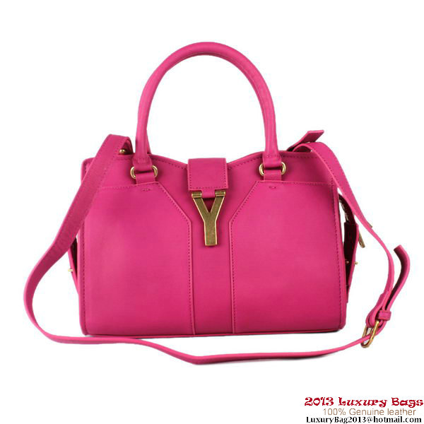 Yves Saint Laurent Small Goatskin Cabas Chyc Bag 2030S Rose