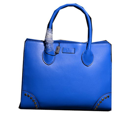 Gucci Bright Diamante Leather Top Handle Bag 354231 Blue