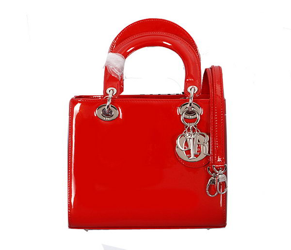 Christian Dior Original Smooth Leather Lady Dior Bag D8822 Red
