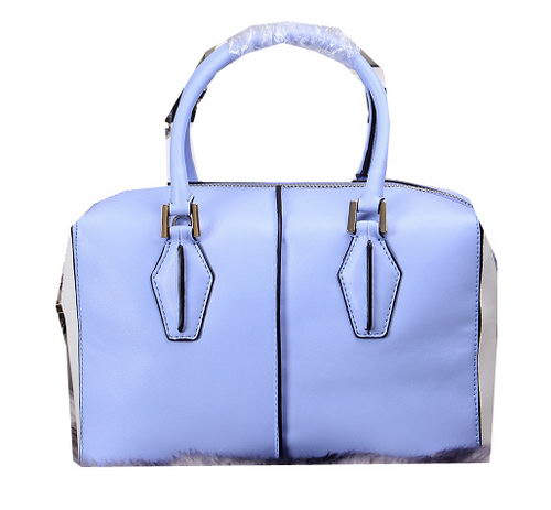 Tods Sella Small Bowler Bags 88760 Blue&White