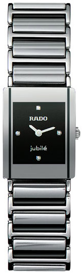 Rado Integral Series Platinum-tone Ceramic Quartz Ladies Watch R20488722