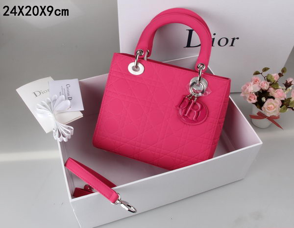 Lady Dior Bag Nubuck Leather CD99002 Rose